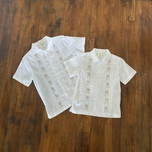 Matching Boys Short Sleeve Button Shirts